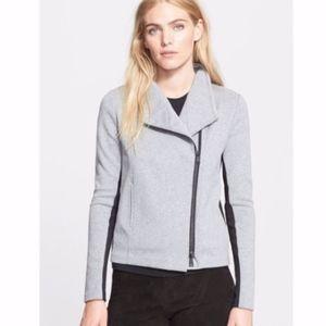 Vince Asymmetrical Scuba Knit zip Jacket M